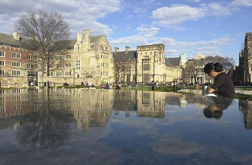 资料图片:美国耶鲁大学风景